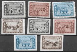 KROATIEN 1955, Exilregierung, Trachten-Satz ** Gezähnt U. Ungezähnt Nr.24-27 - Croatia