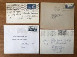 France Timbre Seul Sur Lettre - Lot De 11 Enveloppe Et CP Toutes Pour Les USA - 3 Photos - (C2018) - Postmark Collection (Covers)