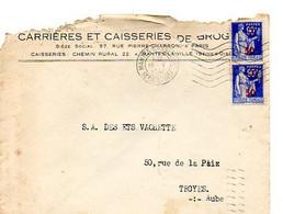 E 12 1941 Lettre/carte Entete  Carrieres Et Caisseries....à Mantes La Ville - Postmark Collection (Covers)