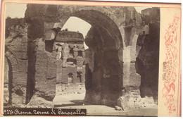 PHOTO/FOTO CDV - ROMA -Terme Di Caracalla  - Ediz. TUFO No. 274 - Places