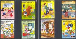 MWD-BK1-020-3 MINT PF/MNH ¤ ANTIGUA & BARBUDA 1989 8w In Serie ¤ THE WORLD OF WALT DISNEY - PHILATELIC AWARENESS - Disney