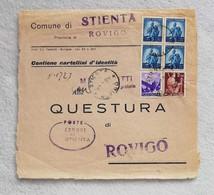 Telegramma Da Comune Di Stienta Per Questura Di Rovigo 1950 - 1946-60: Marcofilie