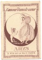 OCCITANIE TOULOUSE CARTE PARFUMEE PUBLICITAIRE ARYS - A FORASTIE MODERN HOUSE PARFUMS DE MARQUE RUE DE LA POMME ANGE - Parfumkaarten