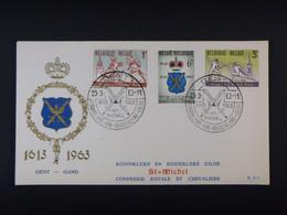 """BELG.1963 1246-1248 FDC( Gent ) : """" Schermen-Escrime """" - 1961-70"""