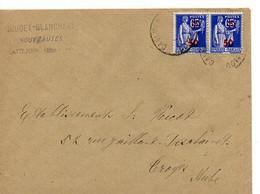 E 12  1940/44 Lettre Entete  Nouvautés à Caulnes - Postmark Collection (Covers)