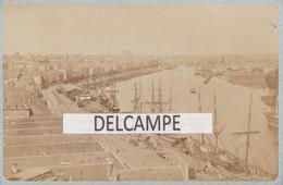 44 - NANTES - Quais Et Gare De La Bourse - Voiliers, Goélettes  - Photo Format Cabinet 1870/1880- Photographie Libaros - Lugares