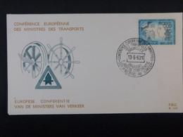 """BELG.1963 1253 FDC (Brux/Brus) : """" 10éme Anniversaire De La Conférence Européenne Des Ministres Des Transports"""" - 1961-70"""
