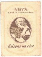 OCCITANIE SOREZE CARTE PARFUMEE PUBLICITAIRE ARYS BIAU FRANCOIS PARFUMS LUXE CHAPELLERIE SALON COIFFURE RUE DE CASTRES - Oud (tot 1960)