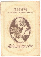 OCCITANIE SOREZE CARTE PARFUMEE PUBLICITAIRE ARYS BIAU FRANCOIS PARFUMS LUXE CHAPELLERIE SALON COIFFURE RUE DE CASTRES - Parfumkaarten
