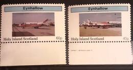 Air Mail ,Airplanes, Aviations Eynhallow Island Set 2v  Mnh - Altri (Aria)