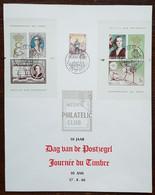 Belgique - FDC Sur Document - YT N°1367 + BF 40, 41 - Reine Elisabeth / JOURNEE DU TIMBRE - 1966 - 1961-70