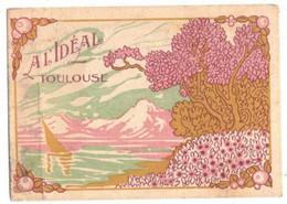 OCCITANIE TOULOUSE CARTE PARFUMEE PUBLICITAIRE A L'IDEAL PARFUMERIE - DESCRIPTIF - Oud (tot 1960)