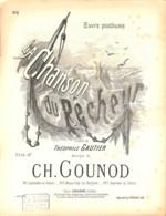 La Chanson Du Pêcheur, Partition Ancienne, Grand Format, Couverture, Illustrée Buval - Partitions Musicales Anciennes