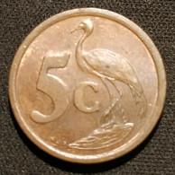AFRIQUE DU SUD - 5 CENTS 1996 - Tsonga - AFRIKA - DZONGA - KM 160 - ( South Africa ) - Sud Africa