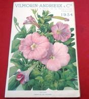Catalogue Graines Semences Légumes Fleurs 1934 Vilmorin Andrieux Et Cie Quai De La Mégisserie - Giardinaggio