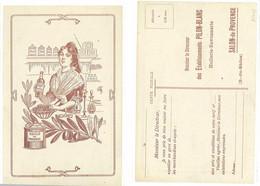 SALON - Huile De Provence è Carte Commerciale Ets Pilon-Blanc    (4000 ASO) - Otros Municipios