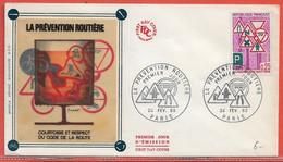 POLICE GENDARMERIE FRANCE FDC DE 1968 DE PARIS - Politie En Rijkswacht