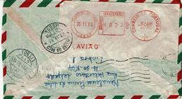 Portugal , 1963 , Correio Aéreo Postmark , Registration Label Avião - Postmark Collection