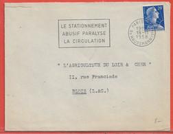 POLICE GENDARMERIE FRANCE OBLITERATION DE 1958 DE PARIS - Politie En Rijkswacht