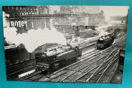 Gare Etat - Photo Paris Saint Lazare - Années 1930- Locomotive Vapeur Train Chemin Fer - Eisenbahnen