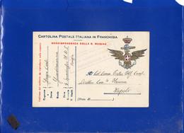 ##(DAN210)-1918-Cartolina Postale In Franchigia R.Marina Verificato Per Censura Squadriglia M.A.S Da Venezia A Napoli - Poststempel