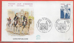 POLICE GENDARMERIE FRANCE FDC DE 1980 DE PARIS - Politie En Rijkswacht