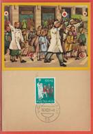 POLICE GENDARMERIE PAYS BAS CARTE MAXIMUM DE 1959 - Politie En Rijkswacht