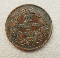 Monnaie De 2½ Centimes De Franc Du Grand Duché Du Luxembourg De 1901—Etat Moyen - Lussemburgo