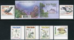 """CAP VERT / CABO VERDE   2010   MNH  -  """" OISEAUX Et FLEURS / BIRDS & FLORA """"  -   6 VAL + 1 BLOC - Kap Verde"""