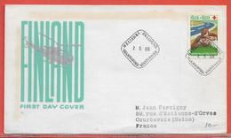 POLICE GENDARMERIE FINLANDE FDC DE 1966 - Politie En Rijkswacht