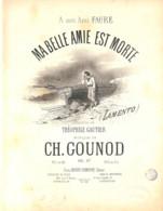 Ma Belle Amie Est Morte, (Lamento), Partition Ancienne, Grand Format, Couverture, Illustrée - Partitions Musicales Anciennes