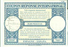 COUPON-REPONSE INTERNATIONAL -ESPAGNE-ESPANA- 10 PESETAS-1965-MOD.LONDRA-SPAGNA - 1931-....