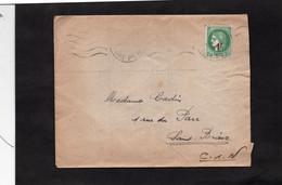 LSC 1941 - Enveloppe Pour SAINT BRIEUC - YT 488 Seul Sur Lettre - Postmark Collection (Covers)