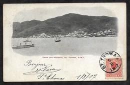 CPA Saint-Thomas Town And Harbour, St Thomas D.W.I - Jungferninseln, Amerik.