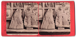 Stereo-Foto G. Brogi, Firenze, Ansicht Torino, Museo - Bassorilievo Di Niniveh - Stereoscopio