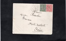 LSC 1905 - Enveloppe Pour BRUNNEN (Suisse) - Cachet Facteur Boitier  CHAMPAGNE Sur YT 129 & YT 130 - Postmark Collection (Covers)