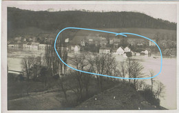 Carte Photo - HUY - Inondations De 1926  (Remarque : Ligne Bleue Fictive) - Huy