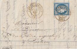 VIENNE LAC 1876 CHATELLERAULT TYPE 17 SUR CERES FIN DU GC - 1849-1876: Periodo Clásico
