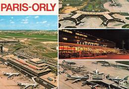 Aviation Aeroport De Paris Orly Aerogares Sud Et Ouest Avion Avions Air France CPM Cachet Orly Aerogare 1988 - Aérodromes