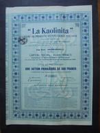 BELGIQUE - ANDENNE-ANDENELLE  1907 - LA KAOLILITA, PRODUITS REFRACTAIRES SPECIAUX - ACTION PRIVILEGIEE 500 FRS - 120 EX - Zonder Classificatie