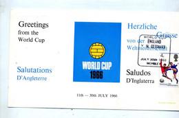 Carte  Cachet Wembley Angleterre Allemagne Finale Coupe Monde Football - 1966 – Engeland