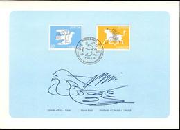 Suisse Poste Obl Yv:1480/1481 Europa (TB Cachet à Date) Basler Taube 95 - Cartas