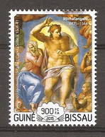 GUINEA-BISSAU - 2015 MICHELANGELO Giudizio Universale (Cappella Sistina, Vaticano) Nuovo** MNH - Religieux