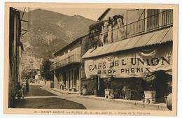 CPA - ST ANDRE LES ALPES (Basses Alpes) - Place De La Fontaine (Café De L'Union) - Other Municipalities