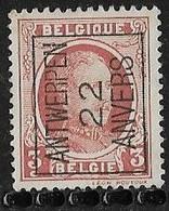 Antwerpen 1922 Typo Nr. 67A - Sobreimpresos 1922-31 (Houyoux)