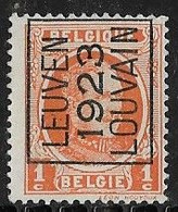 Leuven 1923 Typo Nr. 75A - Sobreimpresos 1922-31 (Houyoux)