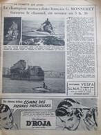 1952 Traversee De La Manche Motocycliste    Monneret   Channel   Scooter Des Mers - Non Classificati