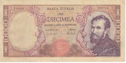 FALSO DE EPOCA - BILLETE DE ITALIA DE 10000 LIRAS DEL AÑO 1973 DE MICHELANGELO (BANKNOTE) - 10000 Lire