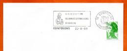 16 CONFOLENS   LES JOURNEES GASTRONOMIQUES   1988 Lettre Entière N° VW 165 - Oblitérations Mécaniques (flammes)