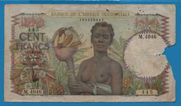 BANQUE DE L'AFRIQUE OCCIDENTALE 100 FRANCS 16.4.1948 # M.4046 P# 40 FRENCH WEST AFRICA - Sonstige – Afrika